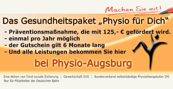 physio für Dich in der Physiotherapiepraxis Finke in Augsburg